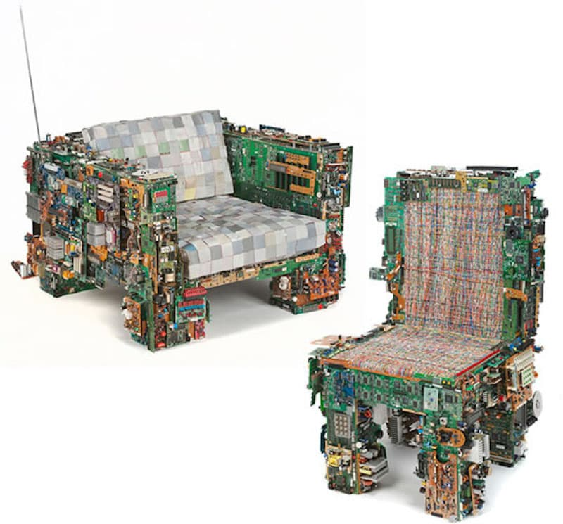 Ewaste Art - Binary Collection