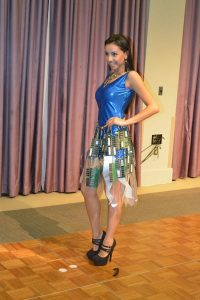 Ewaste Fashion - Circuit Board & Ewaste Dress