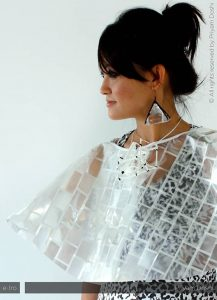 Ewaste Fashion - Mobile Phone Cape & Earrings
